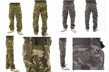 Men's Slim Straight Cargo Pants with Canvas Belt