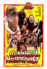 CANNIBAL HOLOCAUST Movie POSTER RARE Gore Shock Horror Zombies