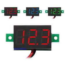 "0.36"" LED Mini Digital Voltmeter 3-30V Panel-Meter Spannungsanzeige Rot Blau"