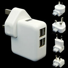 4 USB Ports Wall AC Power Charger Adapter Home Travel For Samsung IPhone Phone