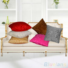 High Quality Floral Pillow Case Square Cushion Cover Shell Home Decor Pure Color
