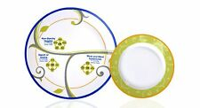"FOCUS Portion Control 9"" Porcelain Dinner Plate with a Bonus 6"" Side Plate"