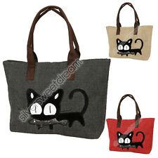 Borsa donna RAGAZZA GATTO GATTINO CAT GATO shopping spesa GRANDE shopper kitty