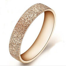 New Fashion Rose Gold Stainless Steel Ring Band finger women Jewelry Love Size
