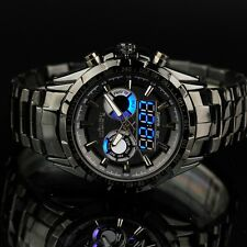 INFANTRY Mens Digital LED DATE&DAY Alarm Army Stainless Steel Diver Wrist Watch