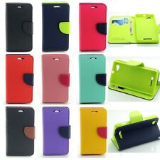 Deluxe Wallet Leather Flip +TPU Skin Case Cover For Sony Xperia M C1904 / C1905