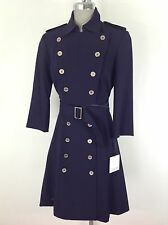 Calvin Klein NEW Military Style BLACK Dress Silver Accentuated Hardware ,