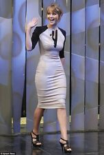 VegasChic Celeb Style Jennifer Elegant Color Block Contrast Bodycon Dress SML