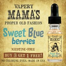Mama's Sweet Blueberries Flavor USA 20% to 80% VG e Hookah Shisha eHookah Vapor