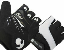 Chaptah - Race Gel Half-Finger Bike Cycling Gloves (Black/White) XL