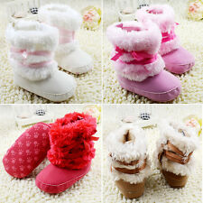5 Colors Baby Girl Fleece Boots Toddler Soft Wool Snow Boots Winter Warm Shoes