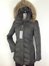 Andrew Marc NWT Olive Slimming Coyote Fur Hooded Hypoallergenic Down Jacket