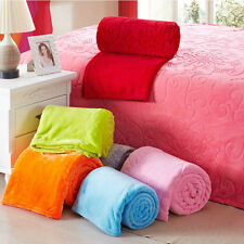 New listing! soft pure color coral blanket air conditioning blanket sheets