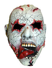 Halloween Mask Gouged Eyes Stick Out Tongue Scary Zombie Horror Face