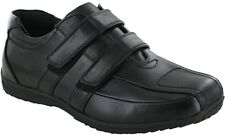 Mens Boys Smart Wedding Dress Casual Twin Velcro Back To School Shoes Size 6-12