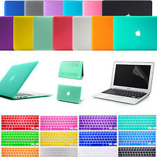 "Laptop Rubberized Matte Hard Case Cover + Keyboard Skin For MacBook Air 11""/ 13"""