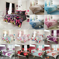 Duvet Quilt Cover Bedding Set With Pillow Case Single Double King Super King