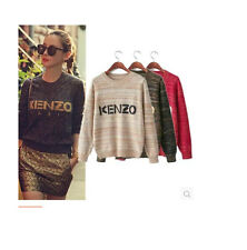 Celebrity Embroidery Tiger Head Cotton Blend Jumper Sweater Knitwear ONE SIZE
