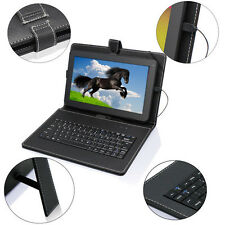 """Universal Leather Case Cover Stand For 8"""" Android Tablet PC PDA w/ USB Keyboard"""