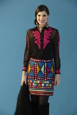 """UNBELIEVABLE """"MOONLIGHT RHYTHM"""" Embroidered/Mirrors SKIRT From ROJA FALL 2014"""