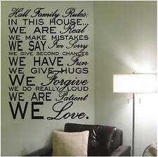 Custom Family Rules Wall Decals | Personalized Vinyl Wall Quotes Stickers
