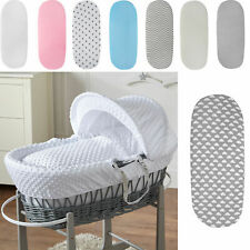 MOSES BASKET DELUXE JERSEY FITTED SHEETS 100% COTTON. NEW!! 4X COLOURS. NEW!!