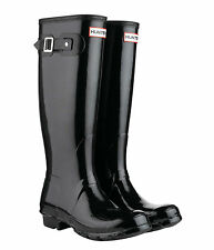 New Womens Wellington Hunter Original Tall Boots Glossy Black