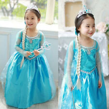 Disney Frozen Elsa Anna Dress Princess Party Dress Custom Cosplay New Excellent