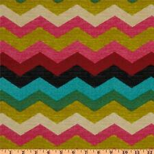 WAVERLY PANAMA WAVE DESERT FLOWER 676122 - Chevron Home Decor Fabric by the Yard