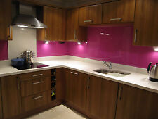 SPLASHBACK GLASS BESPOKE SIZES COLOURS KITCHEN BATHROOM TOUGHENED HEAT REISTANT