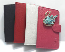 3D Diamond Swan Cygnus PU Flip Leather Wallet Pouch Case Cover for Nokia phones