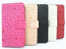 Lovely Cute Magic Girl Flip PU Leather Wallet Case Cover For SONY Cell Phones