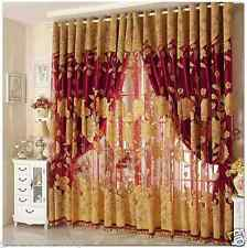 CUSTOMIZE!!!Curtains Drapes Valances Luxury Lined Curtain Set and Valance Window