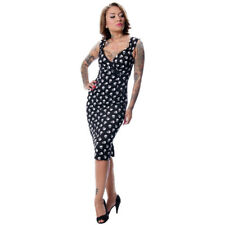 Women's Steady Clothing Skull Diva Dress Retro Vintage Inspired Rockabilly Pinup