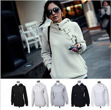 Womens Ladies Casual Jacket Long Sleeve Hoodie Coat Top Hooded Jumper Sweatshirt