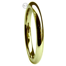 2mm 9ct HM 375 Yellow Extra Heavy 2.1g Court Comfort Wedding Ring Band Gold H-Q