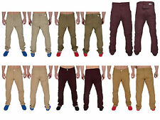 Mens Chinos Soul Star Drop Crotch Cuffed Carrot Fit Twisted Trousers Pants Jeans