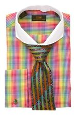 Dress Shirt by Steven Land Fall 2014 Spread Collar French Cuffs -Multi-DS1250-MU
