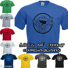 COOKIE MONSTER  SESAME STREET MENS T SHIRT TV RETRO MUPPETS  BIG BANG THEORY MAN
