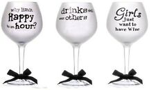 20 ounce frosted balloon wine glass happy birthday gift funny drinking quotes