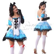 Maid Outfit Alice In Wonderland Costume Women Sexy Halloween Cosplay Fancy Dress