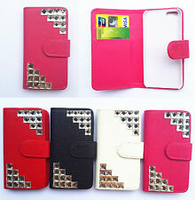 Luxury Diamond Flip PU Leather Card slots Wallet Cover Case Pouch for ZTE phones