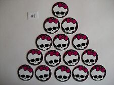 "15 ct 1"" Monster High Set C Inspired Buttons Pinbacks Flatbacks hairbows"