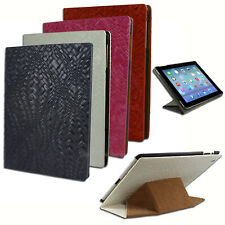 NEW Woven PU Leather folding stand cover for Apple iPad 2 3 4 Weave case