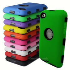 Heavy Duty Cover Case for Apple iPod Touch 4 4th Gen 4G Tradesman Tough