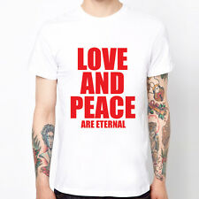 LOVE AND PEACE-Red slogan text design graphic party gift t-shirt