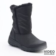 NIB Womens Totes Sim Winter Black Thermolite Waterproof Snow Boots SIZE: 8