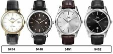 Limit Classic Gents Watches - Date - Stainless Steel Case Leather Wristband