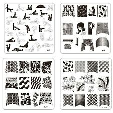 New 1x 62mm Nail Art Image Stamp Stamping Plates Manicure Template XJ Series JH5