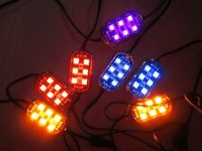 6 LED PODS ALL COLORS WORKS WITH OR WITHOUT CONTROLLER 6 LEDS ON EACH POD